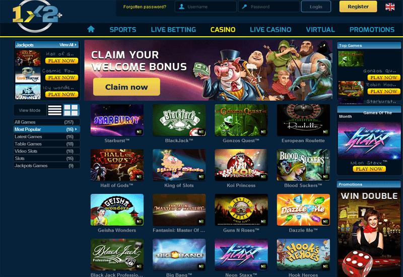 1x2 Plus Casino Home Page