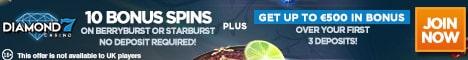 Diamond7 Casino Bonus And Review