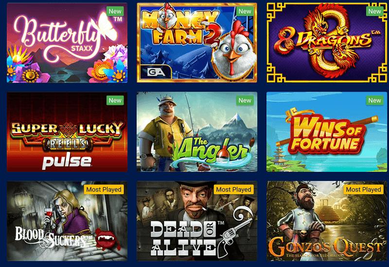 AU Slots Casino Video Slots