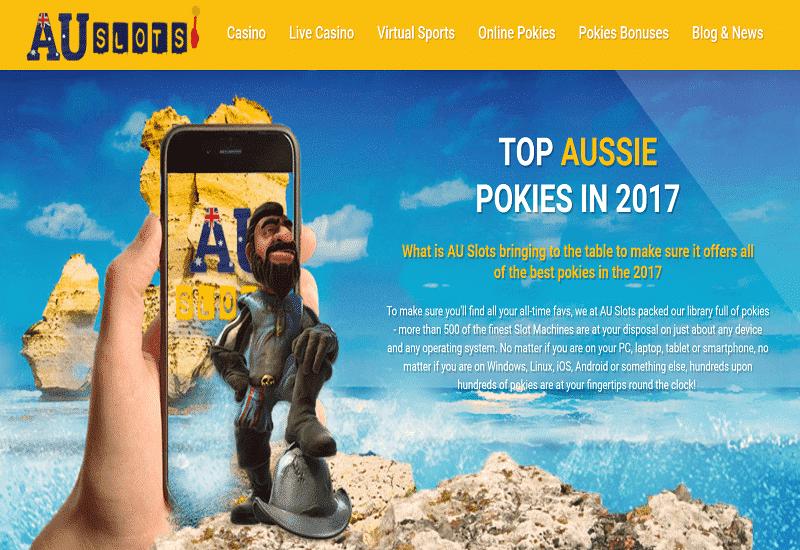 AU Slots Casino Home Page