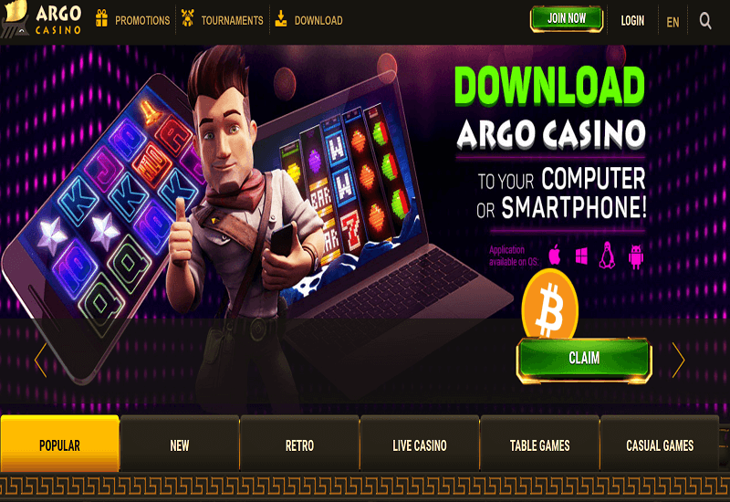 Argo Casino Home Page