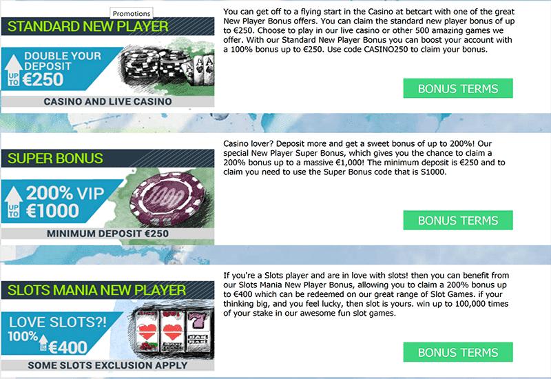 Bet Cart Casino Promotion