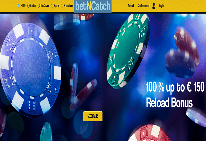 betNCatch Casino Home Page