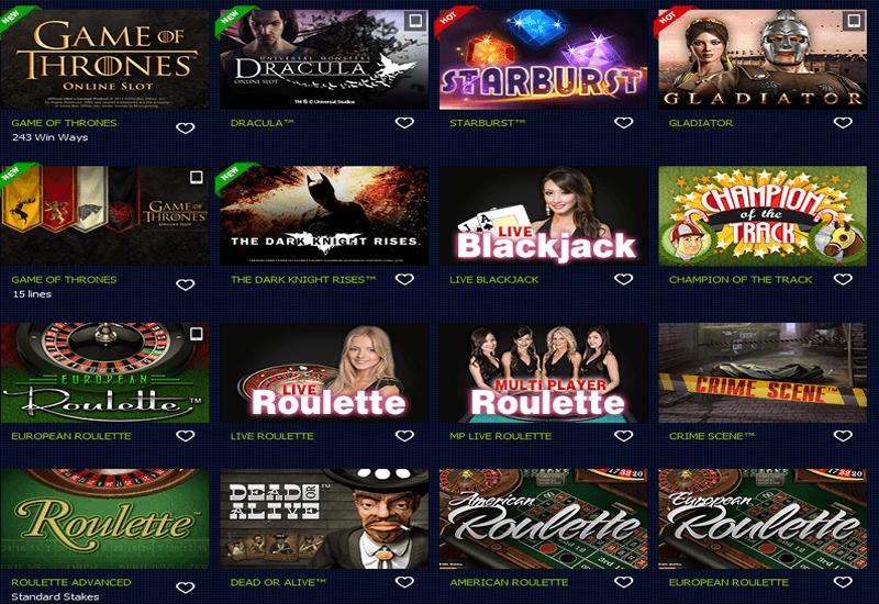 BetRally Casino Games