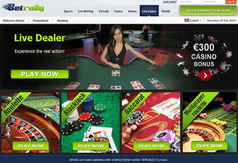 BetRally Casino Live