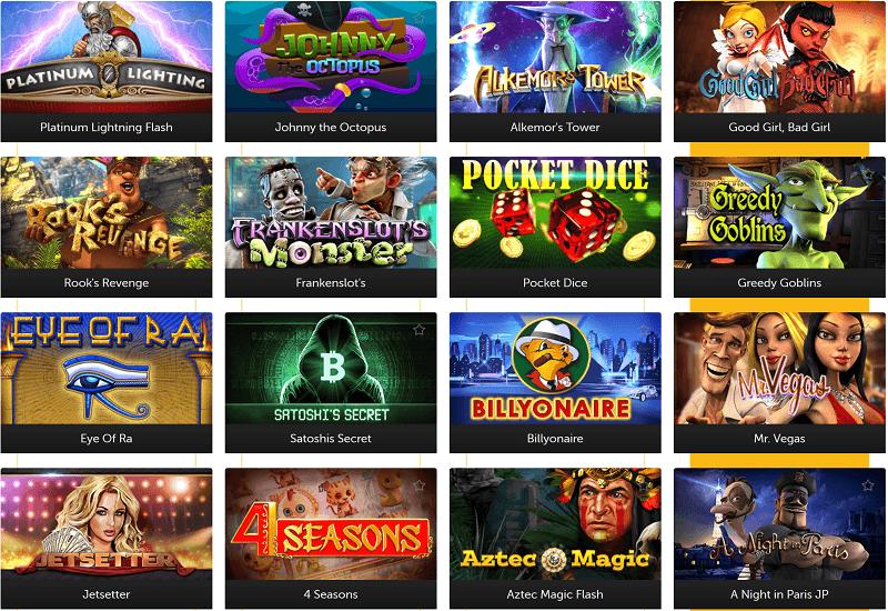 Bitcoin.com Casino Video Slots