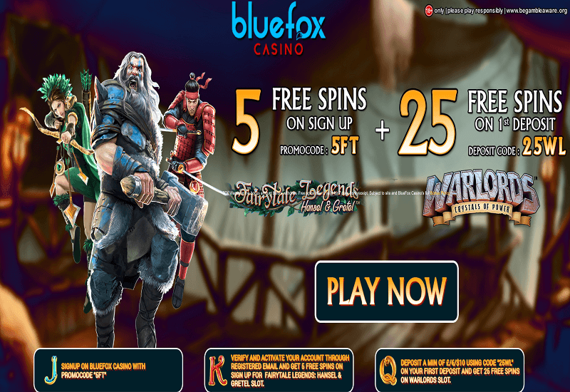 Blue Fox Casino Promotion