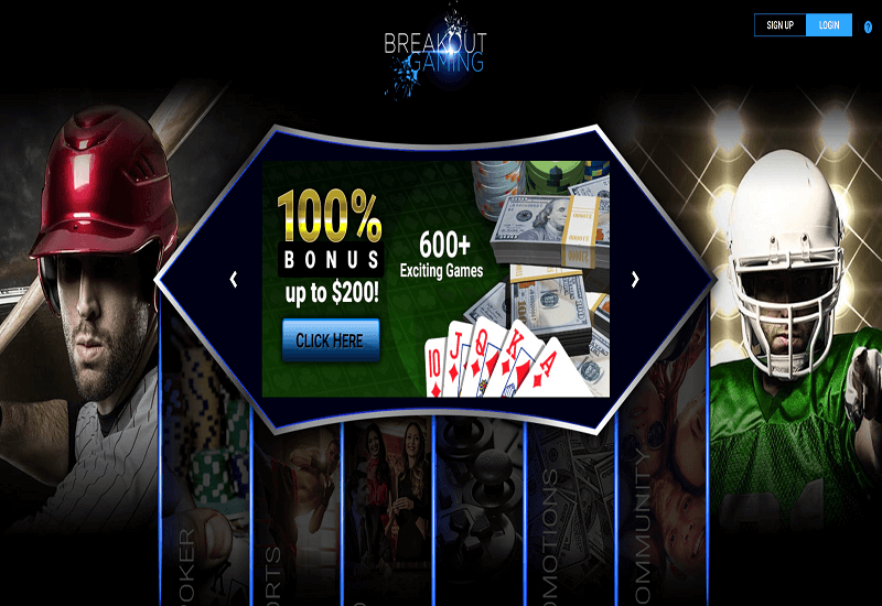 Breakout Casino Home Page
