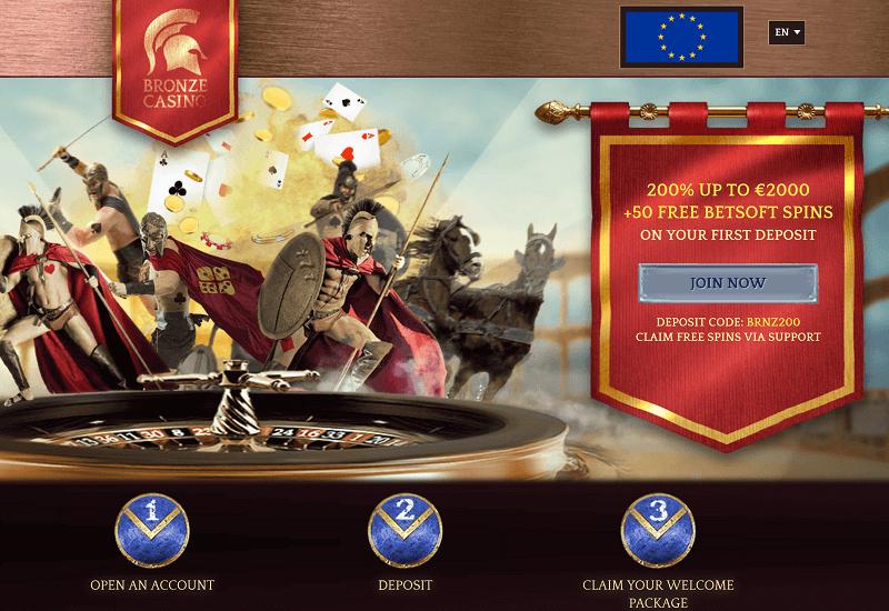 Bronze Casino Home Page