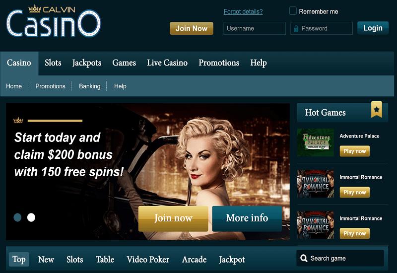Calvin Casino Home Page