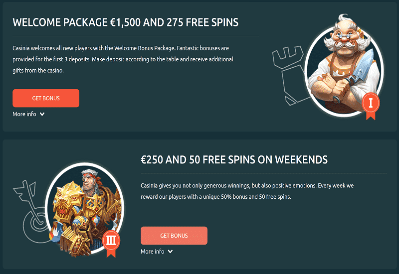 Casinia Casino Promotion