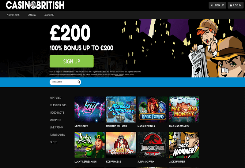 Casino British No Deposit Bonus