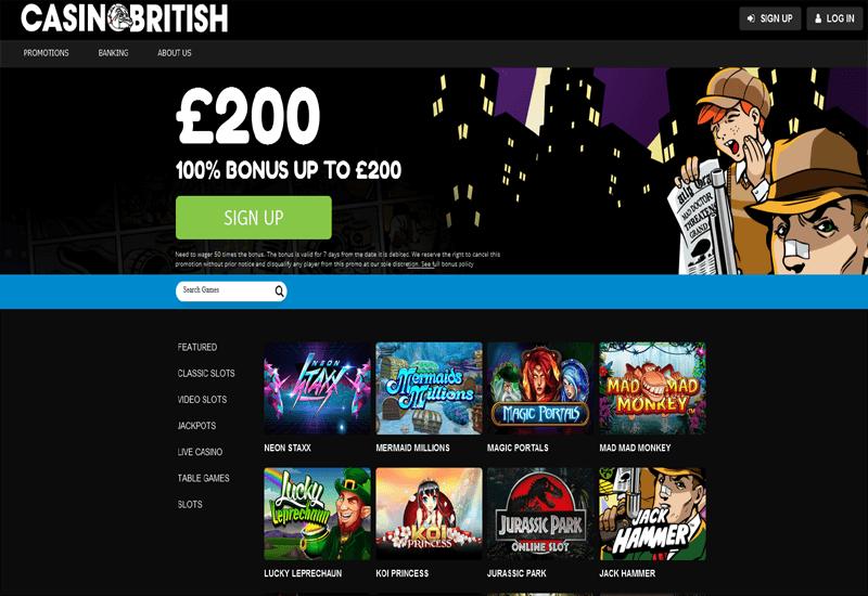 Casino British Home Page