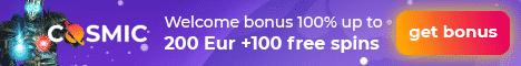 Cosmic Slot Casino Bonus And Review