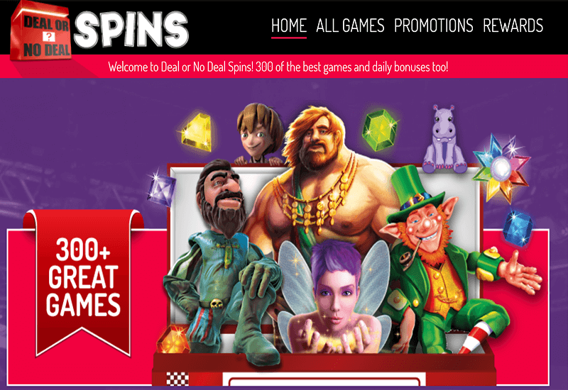 Arcade Spins Casino Home Page