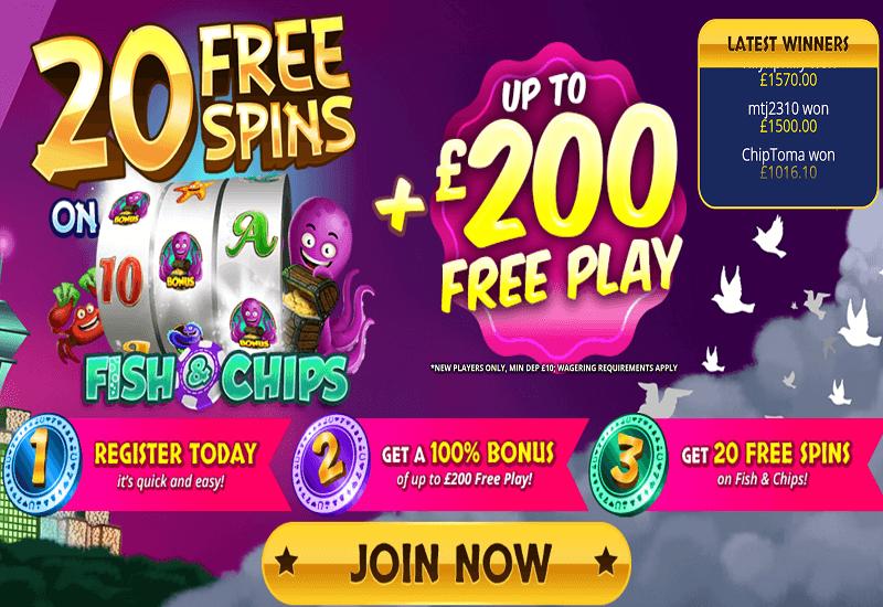 Dove Slots Casino Home Page