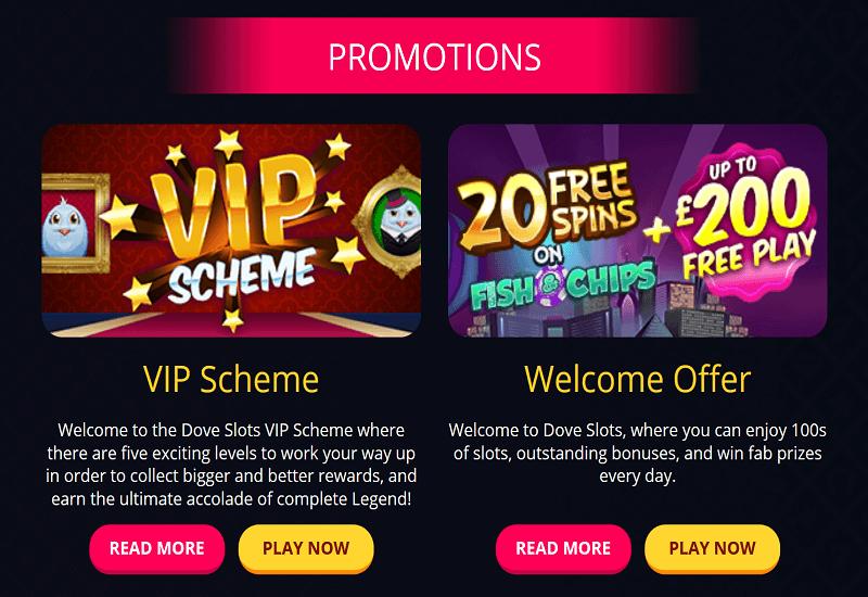 Dove Slots Casino Promotion