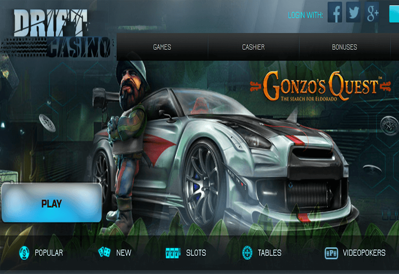 Drift Casino Home Page
