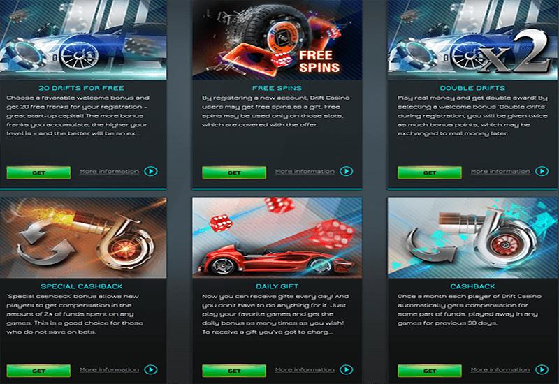 Drift Casino Promotion