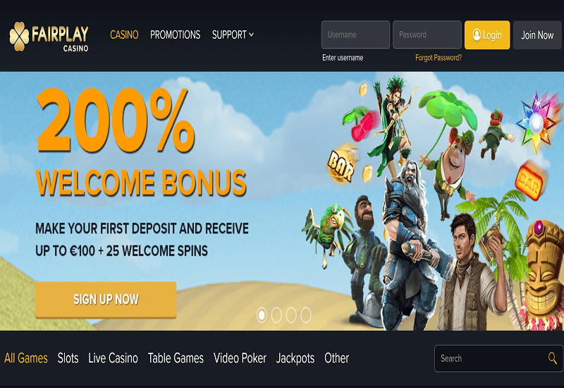 Fair Play Casino Home Page