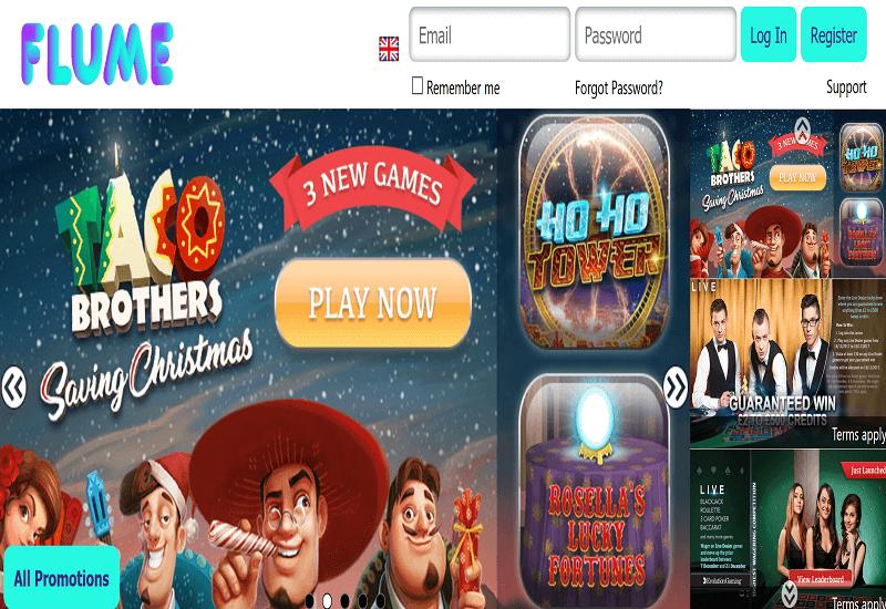 Flume Casino Home Page