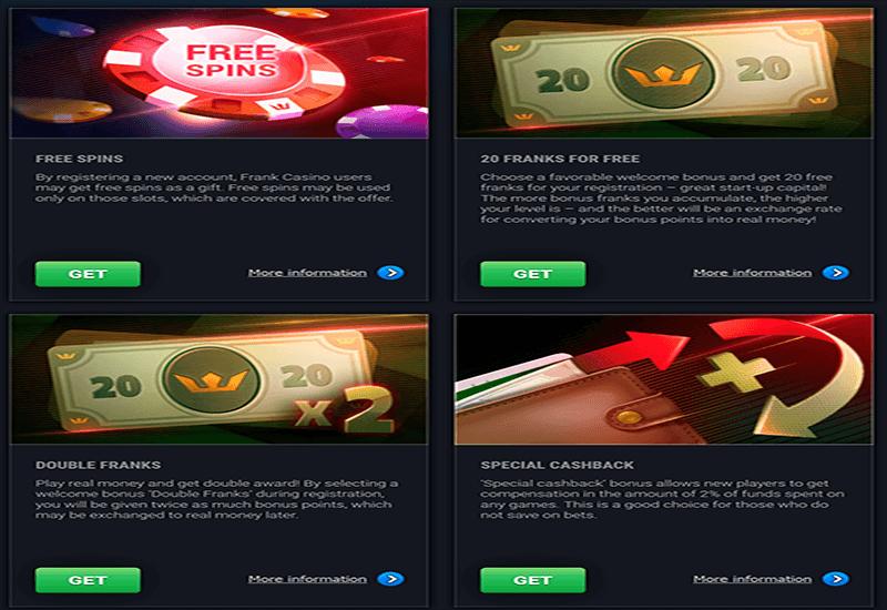 Frank Casino Promotion