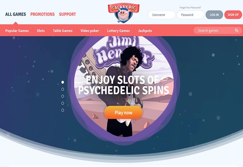 Galaxy Pig Casino Home Page