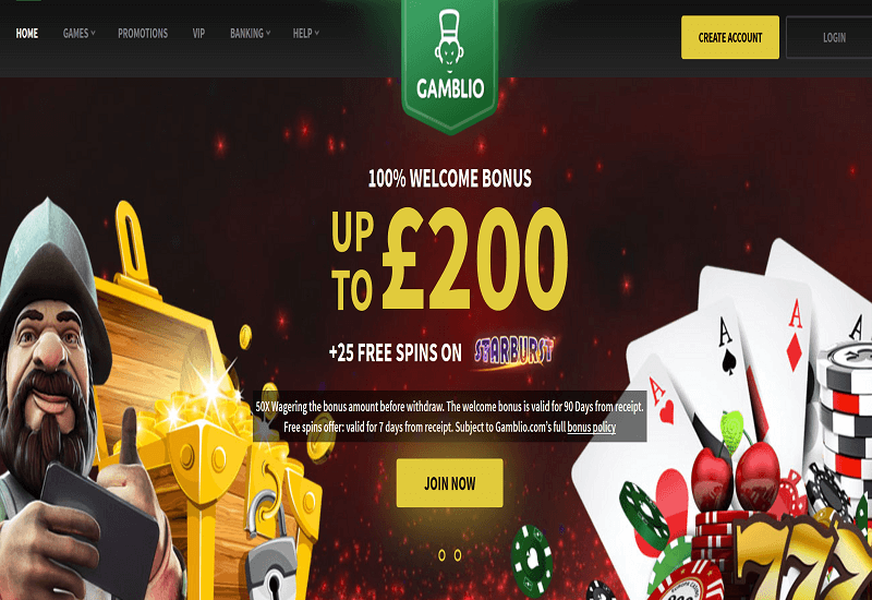 Gamblio Casino Home Page