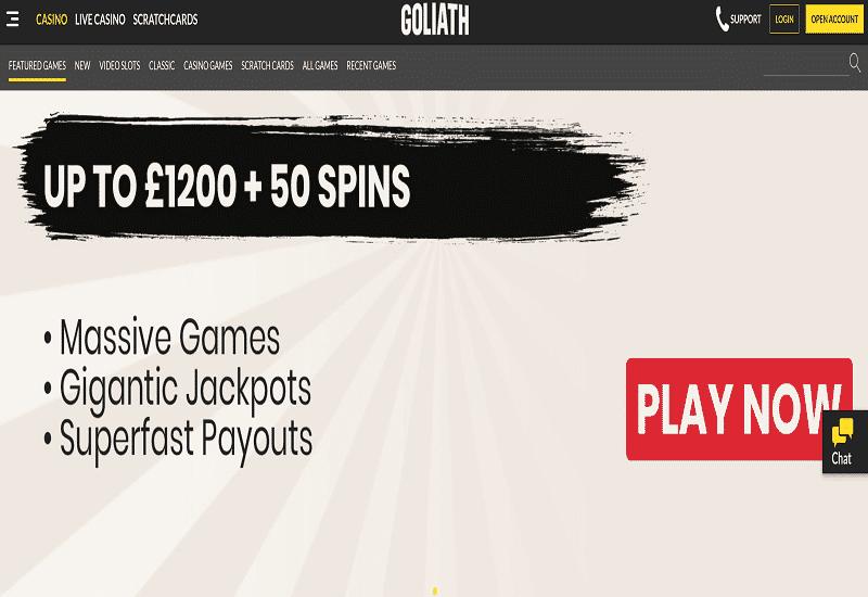 Goliath Casino Home Page