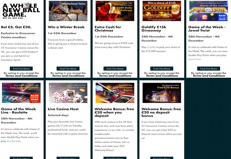 Grosvenor Casino Promotion