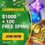 CasinoGym Bonus And  Review News Promotions