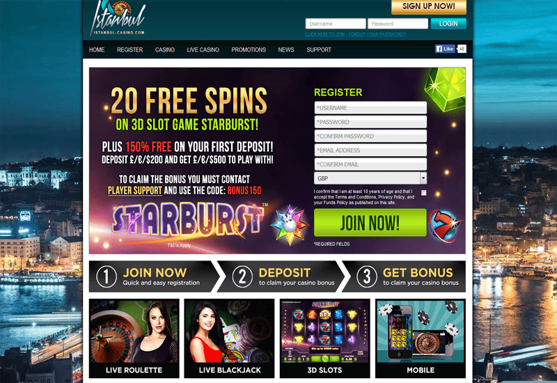 Istanbul Casino Home Page
