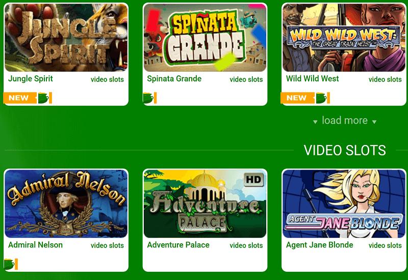 All Irish Casino Video Slots