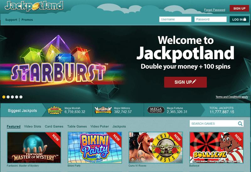 Jackpot Land Casino Home Page