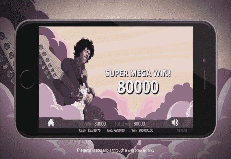 Jimi Hendrix NetEnt Video Slots