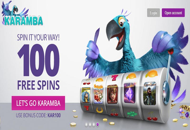 Karamba Casino Home Page