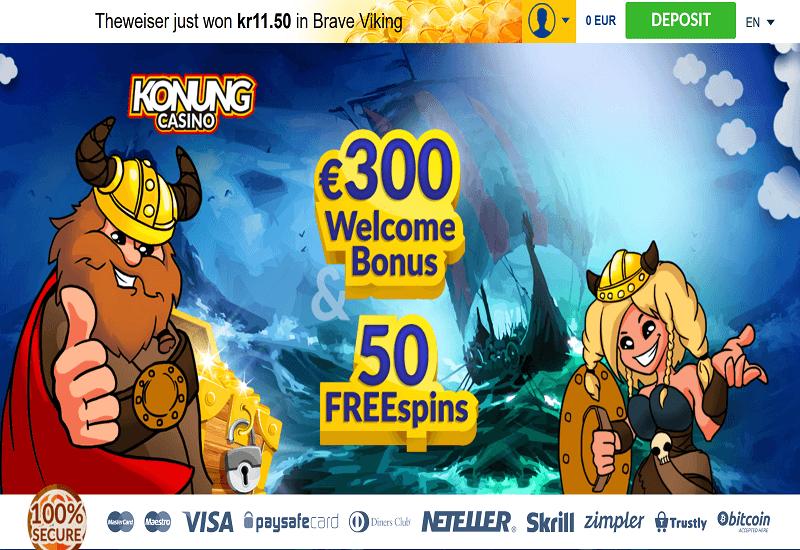 Konung Casino Home Page