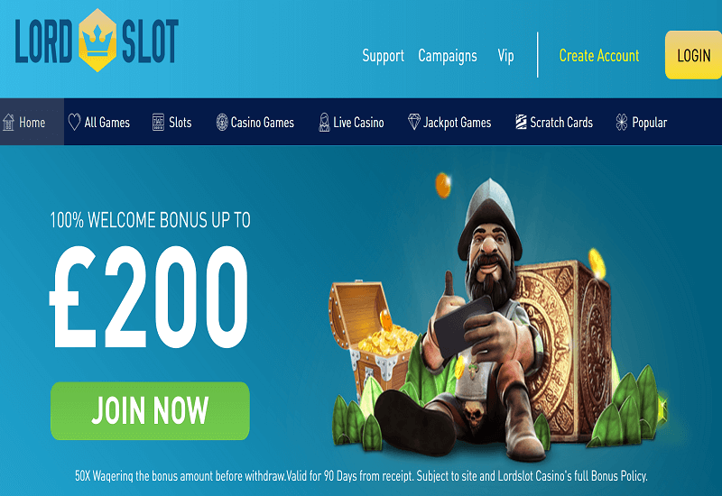 Lord Slot Casino Home Page