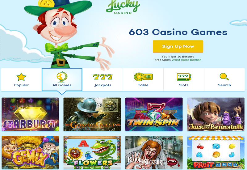 Lucky Casin Home Page