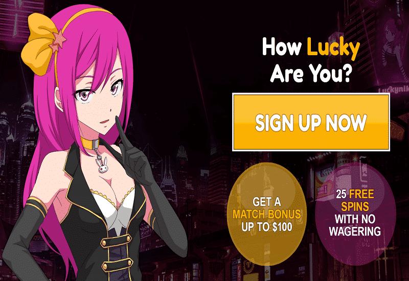 Lucky Niki Casino Home Page
