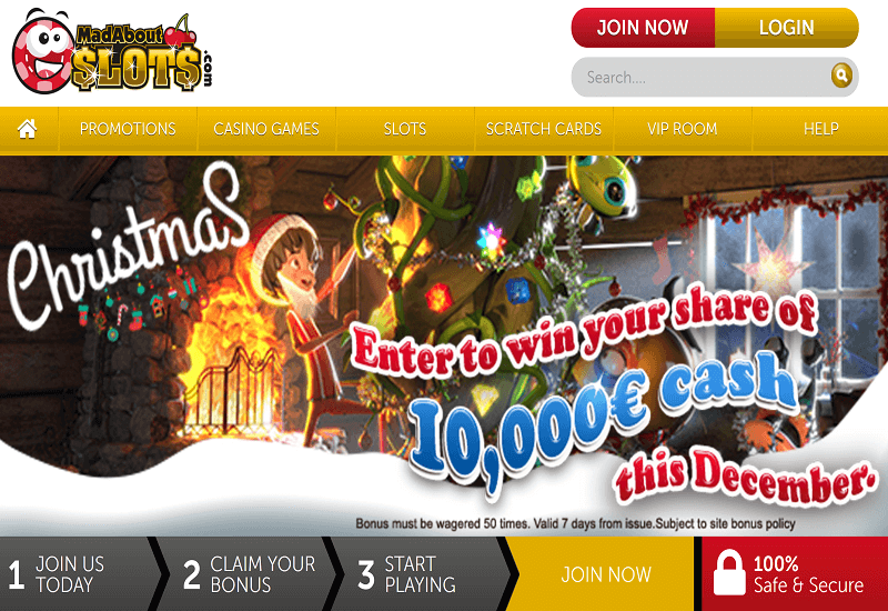 Mad About Slots Casino Home Page