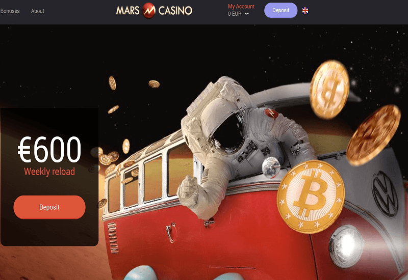 Mars Casino Home Page