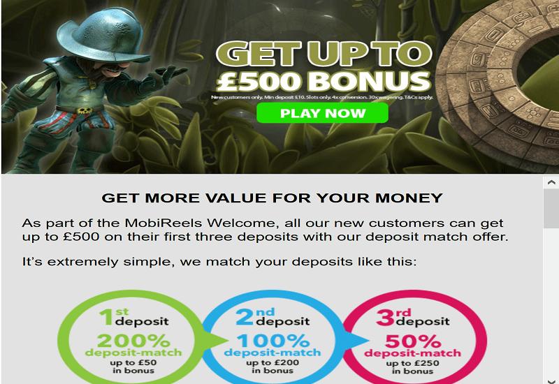 MobiReels Casino Promotion