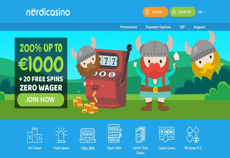 Nordi Casino Home Page