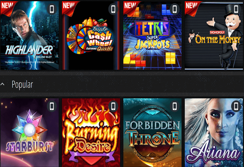 Novibet Casino Video Slots