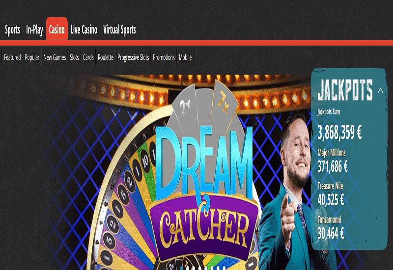 Novibet Casino Home Page