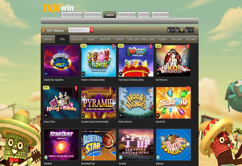 Noxwin Casino Games