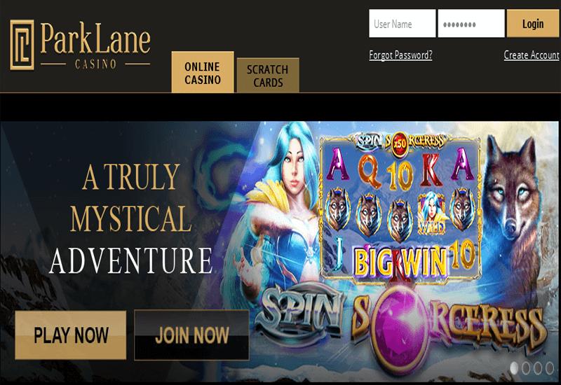 Parklane Casino Home Page
