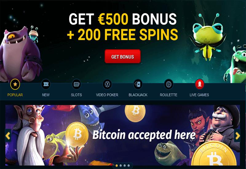 PlayAmo Casino Home Page