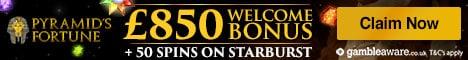 Pyramids Fortune Casino Bonus And Review